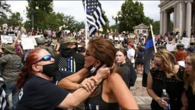 Photo of WOW: Denver police union prez APOLOGIZES for anarchy at 7/19/20 pro-cop rally; admits RETREAT ORDER!